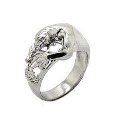 Pantera Women's Ring Sterling Silver 925 SKU111140 925 Silver, Sterling Silver Rings, Ladies Silver Rings, Panther, Plating, Rings For Men, Engagement Rings, Gemstones, Metal
