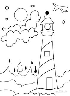 Lighthouse Coloring Pages To Download And Print For Free