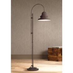Industrial Gear Downbridge Dark Rust Floor Lamp - #1C096 | www.lampsplus.com