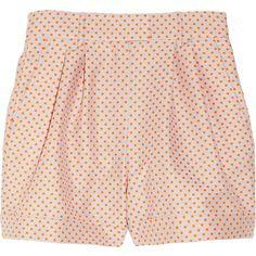 Paul & Joe Kilanga polka dot-jacquard shorts (€125) ❤ liked on Polyvore featuring shorts, bottoms, pants, short, orange short shorts, polka dot shorts, dot shorts, gray shorts and orange shorts