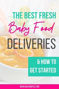 The Best Organic Baby Food Delivery Options. Fresh, nutritionally balanced organic baby purées sent straight to your door in pre-portioned containers.The convenience of store-bought baby food, but with the nutritional benefits of fresh, homemade purées! What are these meals like and are they worth getting for your baby? #babyfood #babypurees #organicbabyfood Baby Puree Recipes, Pureed Food Recipes, Baby Food Recipes, Baby First Foods, Baby Finger Foods, Best Organic Baby Food, Food Texture, Meal Delivery Service, Food Jar
