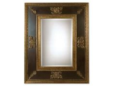 Shop for Uttermost Cadence Mirror, 11173 B, and other Accessories Mirrors at Staiano's Furniture in Califon, NJ. This stately mirror has antiqued gold leaf inner and outer edges and ornamentation. The inside panels have a distressed black finish with green glaze.