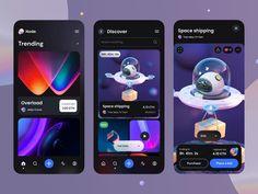 Node – Crypto NFT iOS UI Kit by Tran Mau Tri Tam ✪ App Home Screen, Directory Design, Twitter App, Ios Ui, Settings App, Online Mobile, Ui Design Inspiration, Job Opening, Ui Kit