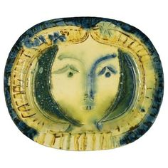 A mysterious beauty! A ceramic plate by Picasso.