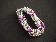 Purple and silver chainmail £7.00