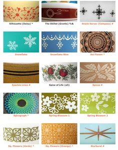 Pyrex patterns 9