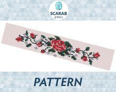 Loom Bead Pattern: Vintage Rose Stitch Bracelet / by ScarabJewels