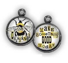 BE ORIGINAL Double Sided Bubble Charm from Pick Up Sticks Jewelry at Toad Hollow