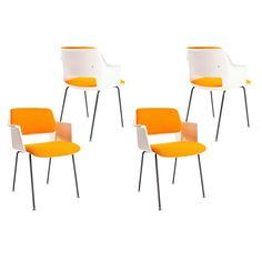 1969 Set of Four Dutch Industrial Dinning Chairs by Andre Cordemeyer for Gispen