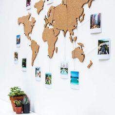 Carte du Monde en Liège - Cadeau Maestro - Accessoires de voyage