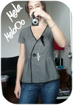 French blog with this really nice wrap top.  She shows you the basic pattern pieces she used to make this design.
