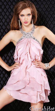 JOVANI - Authentic Designer - Taffeta Bustier Organza Short Dress