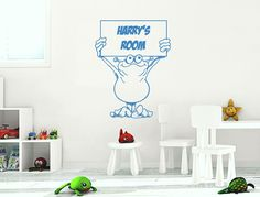 Personalised alien wall sticker Boys Wall Stickers, Childrens Wall Stickers, Wall Sticker Design, Playroom, Room Decor, Wall Art, Game Room Kids, Game Rooms, Room Decorations