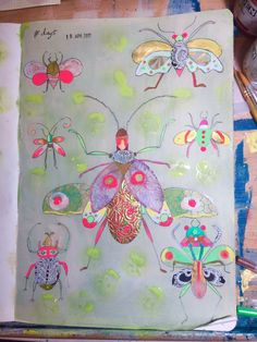 Collage insects Insects, Mixed Media, Collage, Collages, Collage Art, Mixed Media Art, Colleges