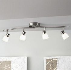 New kitchen lighting track brushed nickel ideas Track Lighting Kits, Kitchen Lighting Fixtures, Light Fixtures, Ceiling Fixtures, Lighting Ideas, Lighting Design, Kitchen Recessed Lighting, Kitchen Ceiling Lights, Kitchen Track Lighting