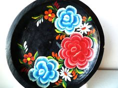 :D❤️Vintage Hand Painted Floral Wooden Tray SALE by ShantyIrishVintage