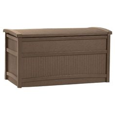 Features:  -Material: Resin.  -50 Gallon capacity.  -Great for storing furniture cushions and outdoor accessories.  -Stay dry design.  -Made in the USA.  -Can be stored with a large amount of weight i
