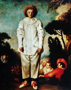 Pierrot by the French artist Jean-Antoine Watteau (1684-1721) - Paris:Musée du Louvre (France) - Style:Rococo 1718