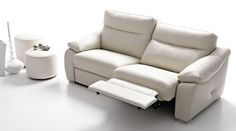Sulmona, canapé relax électrique, canapé cuir Luxesofa