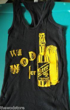 CrossFit shirt on ebay. Will WOD for beer. WODshop.com
