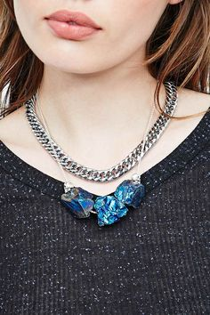 Cult of Youth Pluto Choker Necklace in Silver - Urban Outfitters