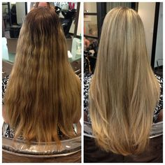 MODERN Facebook fan Drew Noreen, a stylist at Arizona's Pucci Salon created this before and after using Wella Blondor lightener and styled for a healthy finish using Oribe stylers.