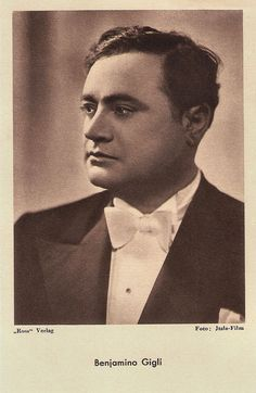 https://flic.kr/p/MzckMa | Benjamino Gigli | German postcard by Das Programm von Heute / Ross Verlag, Berlin. Photo: Itala-Film.  Beniamino Gigli (1890-1957) was one of the most famous Italian opera singers, internationally respected for the beauty of his voice and his vocal technique. Between 1935 and 1950 he also starred in various Italian fiction films.  For more postcards, a bio and clips check out our blog European Film Star Postcards or follow us at Tumblr or Pinterest.
