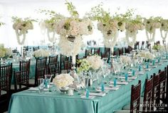 2015 scuba blue wedding decor