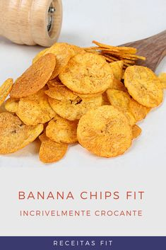 Comidas Light, Comida Diy, Banana Chips, Healthy Snacks, Healthy Recipes, Diy Food, Healthy Living, Snack Recipes, Low Carb
