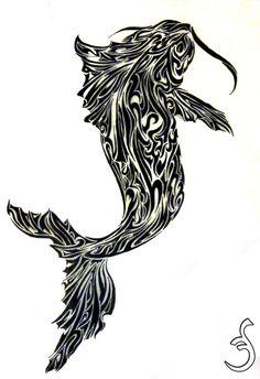 Koi Fish Tattoo Design 2 by Griffon2745 on DeviantArt