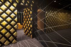 The theme of delicate grid was treated in a very innovative way – a bi-dimensional pattern was completely transformed by introducing an additional dimension: it was made spatial by being projected on the tri-dimensional model of the interior. Visit City Lighting Products! https://www.linkedin.com/company/city-lighting-products