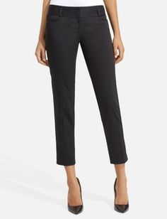 Ankle pants are very cute with a shoe with a little heel.