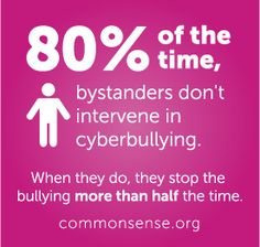 1 in 4 teens has been cyberbullied. Get the facts and helpful tips at… Stop Bullying, Anti Bullying, Cyber Bullying, Bullying Statistics, Teaching Division, Social Media Etiquette, Words Hurt, Common Sense Media, Bullying Prevention
