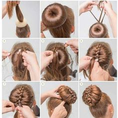 Bun hairstyles are convenient for bad hair days and good hair days, Bun hairstyl. - Bun hairstyles are convenient for bad hair days and good hair days, Bun hairstyles are convenient f - 5 Minute Hairstyles, Dance Hairstyles, Braided Hairstyles, Cool Hairstyles, Donut Bun Hairstyles, Wedding Hairstyles, Step Hairstyle, Hairstyle Tutorials, Hairstyle Ideas