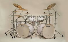Ludwig drum set. the only thing i would change about this kit is that i would want it in black, get another crash cymbal, more splash cymbals, another tom, and a second hi hat