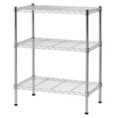 Sandusky 3-Shelf 24 in. W x 30 in. H x 14 in. D Steel Wire Commercial Shelving Unit-WS241430 at The Home Depot
