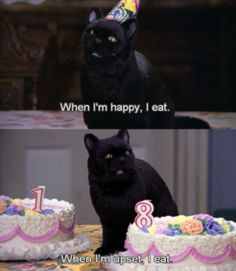 Salem from Sabrina the Teenage Witch and my little sister agree lol