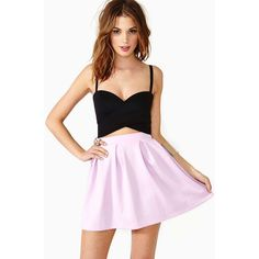 Scuba Skater Skirt ($14) ❤ liked on Polyvore featuring skirts, models, outfits, dresses, lilac, circle skirt, pleated skater skirt, high waisted skirts, stretch skirt and skater skirt