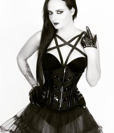 ⛧ #occult #harness #corsets #corsetaddict #hourglass #seethrough  #altfashion #alternativegirl #gothgoth Witchy Clothing, Witchy Outfit, Punk Rock Fashion, Alternative Girls, Rock Style, See Through, Hourglass, Corsets, Goth Girls