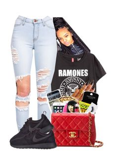 """"""""""" by abriannaj ❤ liked on Polyvore featuring KEEP ME and NIKE"""