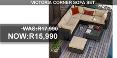 Outdoor furniture and patio furniture accessories at the highest quality that is comfortable as well as attractive. Corner Sofa Set, Outdoor Furniture Sets, Outdoor Decor, South Africa, Victoria, Patio, Creative, Home Decor, Decoration Home