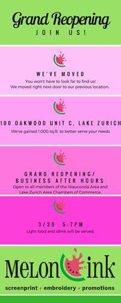 Save the date - 3/30! Attention all Lake Zurich Area and Wauconda Area Chambers members! You're invited to our Grand Reopening/Business After Hours on Thursday, 3/30 from 5-7pm. Come see our new, larger space, network with some fellow business owners and have some refreshments on us!