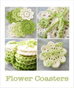 Flower Coasters (incl. link to pattern)