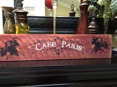 A personal favorite from my Etsy shop https://www.etsy.com/listing/221113212/french-cafe-wood-sign-with-grapes-shabby