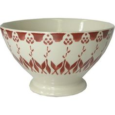 $24 Lines and mostly white Cafe Au Lait Bowl - Red by KTF, http://www.amazon.com/dp/B004NEFNV0/ref=cm_sw_r_pi_dp_A9viqb0TXWDJ5