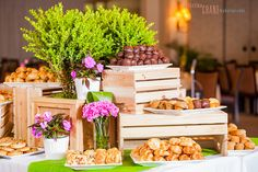 Crates display love this but pumpkins, and lanterns or mason jars instead of flowers