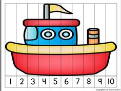Number Puzzles, Maths Puzzles, Preschool Worksheets, Puzzles For Toddlers, Math For Kids, Lessons For Kids, Outdoor Activities For Kids, Toddler Learning Activities, Preschool Activities