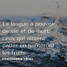 Proverbes 18: 21