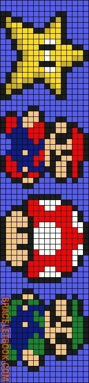 Friendship bracelet pattern 8487 by emmie207 mariobros