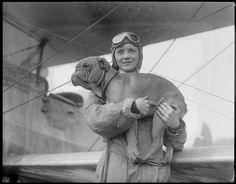 Dorothy Warrick, a student at East Boston Airport. From Pittsburg, PA. Wife of a Tech student flies with Hargenhaig, her 13 blue ribbon English bulldog. Pinned by Judi Crowe. Dog Photos, Dog Pictures, Animal Pictures, British Bulldog, Old English Bulldog, East Boston, Boston Public Library, Vintage Dog, Vintage Girls